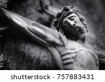 Ancient Wooden Statue Of...
