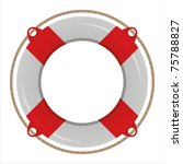 glossy life buoy isolated on...   Shutterstock .eps vector #75788827