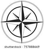 black and white guiding star   Shutterstock .eps vector #757888669