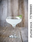 tasty cocktail with rosemary on ... | Shutterstock . vector #757888885