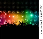silhouette of a party crowd on... | Shutterstock .eps vector #75789253