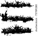 collection of grunge crowd... | Shutterstock .eps vector #75789280