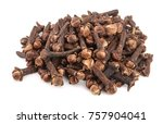 dry spice cloves isolated on... | Shutterstock . vector #757904041