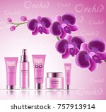 gift set of cosmetics for the...   Shutterstock .eps vector #757913914