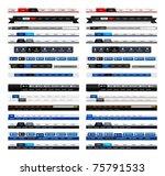 web design menu navigation bar... | Shutterstock .eps vector #75791533