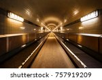 the old elbe tunnel in hamburg  ...