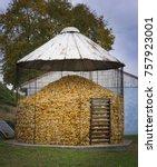 Small photo of Old Fashioned Corn Silo In Amish Farm