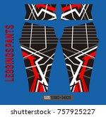 leggings pants fashion vector... | Shutterstock .eps vector #757925227