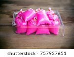 pink nectar in a plastic bag to ... | Shutterstock . vector #757927651