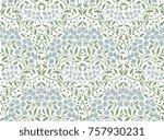 floral seamless pattern. modern ... | Shutterstock .eps vector #757930231