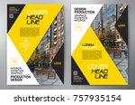 business brochure. flyer design.... | Shutterstock .eps vector #757935154