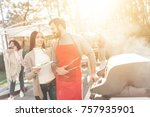 a company of young people came...   Shutterstock . vector #757935901