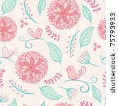 floral summer background with... | Shutterstock .eps vector #75793933