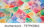 collection of the new swiss... | Shutterstock . vector #757942861
