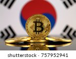 physical version of bitcoin ... | Shutterstock . vector #757952941