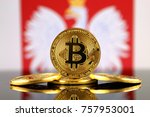 physical version of bitcoin ... | Shutterstock . vector #757953001