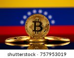 physical version of bitcoin ... | Shutterstock . vector #757953019