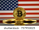 physical version of bitcoin ... | Shutterstock . vector #757953025
