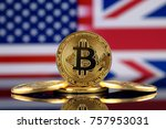 physical version of bitcoin ... | Shutterstock . vector #757953031