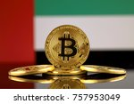 physical version of bitcoin ... | Shutterstock . vector #757953049