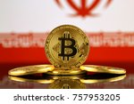 physical version of bitcoin ... | Shutterstock . vector #757953205