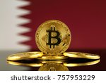 physical version of bitcoin ... | Shutterstock . vector #757953229