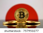 physical version of bitcoin ... | Shutterstock . vector #757953277