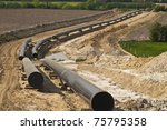 pipeline under construction | Shutterstock . vector #75795358