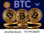 physical version of bitcoin ... | Shutterstock . vector #757953859