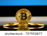physical version of bitcoin ... | Shutterstock . vector #757953877