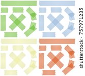 collection of adhesive tapes in ... | Shutterstock .eps vector #757971235