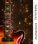Old Electric Guitar With A...
