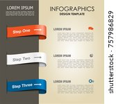 infographic template. vector... | Shutterstock .eps vector #757986829