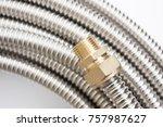 fittings for pipe fastening.... | Shutterstock . vector #757987627