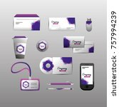 set company stationary template ...   Shutterstock .eps vector #757994239