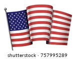 waving flag of united states in ... | Shutterstock .eps vector #757995289