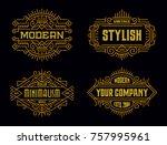vintage badges modern... | Shutterstock .eps vector #757995961