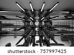abstract dynamic interior with... | Shutterstock . vector #757997425