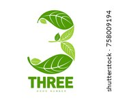 number three logo templates.... | Shutterstock .eps vector #758009194