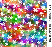 watercolor seamless pattern...   Shutterstock . vector #758014501