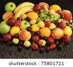 mixed fruit | Shutterstock . vector #75801721