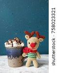 winter hot drink. christmas hot ... | Shutterstock . vector #758023321