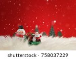 christmas holiday background... | Shutterstock . vector #758037229