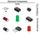 vector set of izometric... | Shutterstock .eps vector #758046721