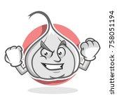 garlic character design or...   Shutterstock .eps vector #758051194