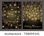 a set of posters or flyers for... | Shutterstock .eps vector #758059141