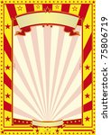 yellow and red circus poster A red and yellow retro poster for your advertising. - stock photo