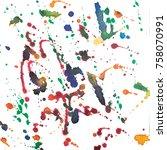 color retro vintage abstract...   Shutterstock . vector #758070991