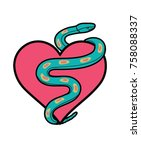 patch embroidery slogan | Shutterstock .eps vector #758088337