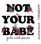 patch embroidery slogan   Shutterstock .eps vector #758088349